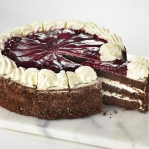 This black forest gateau is for sale in our shop